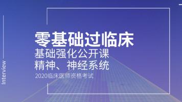 【零基础过临床】2020临床医师基础公开课-精神、神经系统