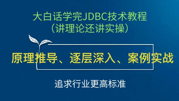 北邮硕士讲授大白话学完JDBC技术教程(讲理论还讲实操)