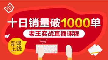 拼多多十日销量破1000单爆款经验分享【录播】