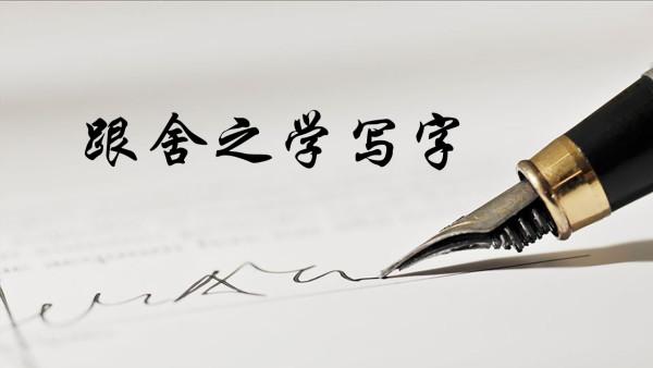 实用硬笔楷书,跟舍之学写字