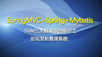 SpringMVC+Spring+Mybatis【SSM三大框架综合练习】