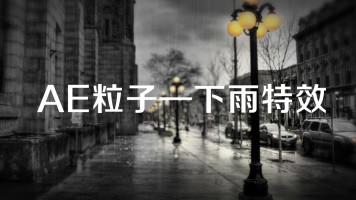 AE粒子特效专辑—案例7 辅助粒子系统城市雨景动画特效
