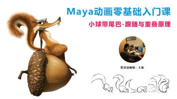 入门-MAYA动画-小球带尾