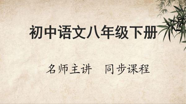 初中语文八年级下册同步课程