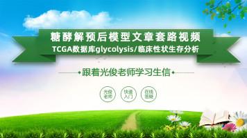 糖酵解预后模型文章套路视频(TCGAglycolysis/临床性状生存分析)