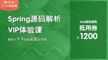 Spring源码解析 Java架构师VIP体验课