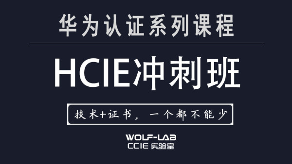 WOLF实验室华为HCIE课程