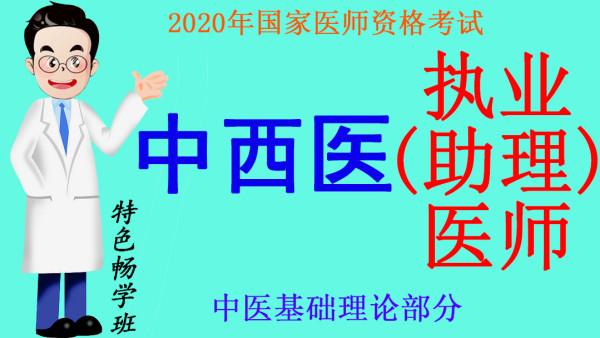 2020年医师资格考试中西医执业(助理)医师之中医基础理论部分