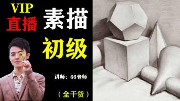 【VIP直播】素描初级几何体课程