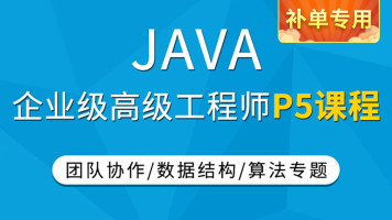 【补单专用】JAVA企业级P5课程/高级工程师/java进阶班