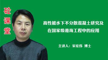 宋宏伟——高性能水下不分散砼研究及在国家级港海工程中的应用