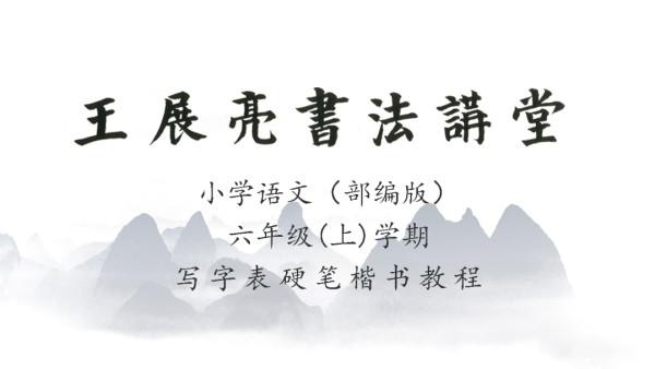 小学语文(部编版)六年级(上)学期写字表—王展亮硬笔楷书教程