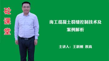 王新刚——海工混凝土裂缝控制技术及案例解析