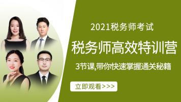 2021年税务师高效通关特训营