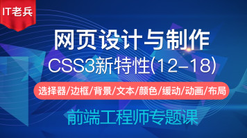 CSS3网页设计与制作(12-18):缓动/变形/动画/弹性盒/多列/响应式