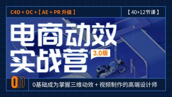 PR/AE/短视频制作/C4D建模渲染/C4D动画/零基础电商美工