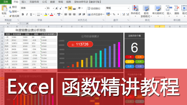 公司文员电脑办公,Excel表格函数精讲视频教程