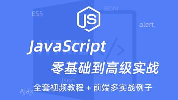 全新Javascript零基础多实战例子教程前端js教程