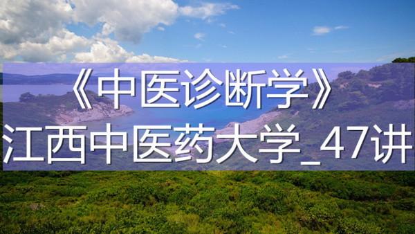 K7724_《中医诊断学》_江西中医药大学_47讲