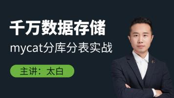 千万数据存储mycat分库分表实战【鲁班学院】