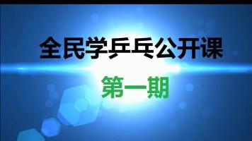 《全民学乒乓公开课第一期》乒乓球教学视频教程