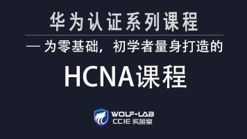 WOLF HCNA全套课程-为零基础、初学者量身打造-HCIA/HCIP/HCIE