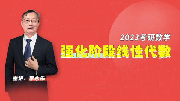 李永乐|2023考研数学强化阶段线性代数