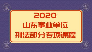 2020山东事业单位公共基础—刑法部分专项课程