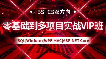 BS+CS双方向零基础到多项目实战VIP班【实战开发,高薪就业】
