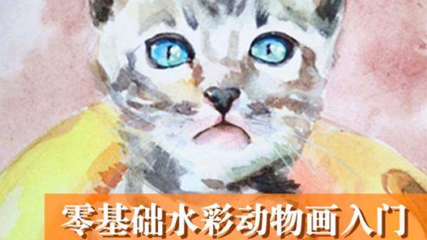 零基础水彩课入门(猫咪水彩画)