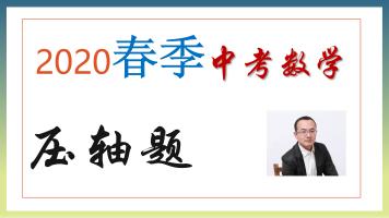 2020春季课-济南中考数学压轴题-高分冲刺