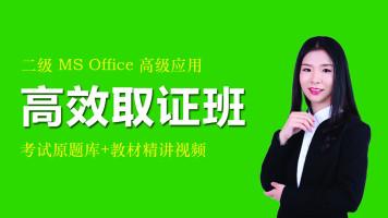 2020年9月份二级MS Office高效取证班
