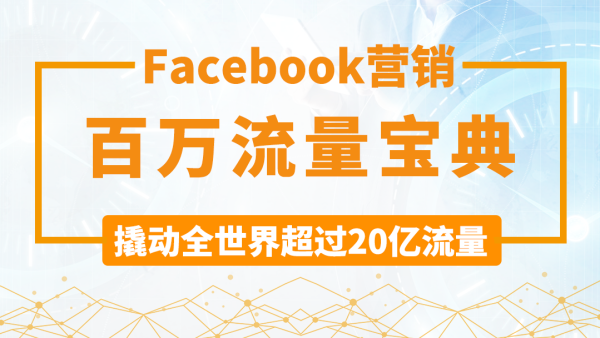 Facebook营销百万流量宝典——批发零售外贸网站及亚马逊引流