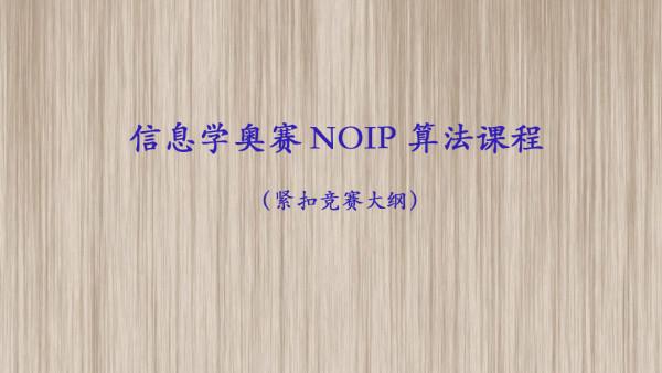 信息学NOIP算法课程+专属答疑群+独立课后作业oj