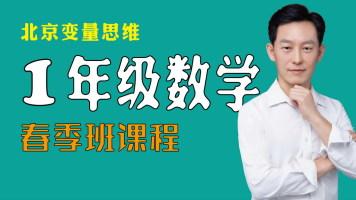 一年级(下册)变量思维数学【春季班】课程,北京定制小班直播