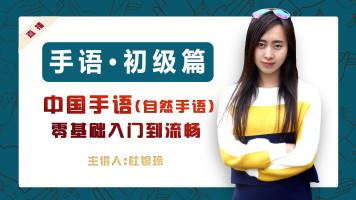 【J班】初级(27课) | 零基础中国手语(自然手语)系统学习