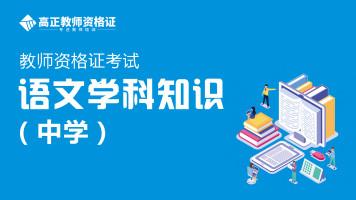 2020年全国教师资格证考试金牌学科密训班-中学语文