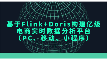 基于Flink+Doris构建电商实时数据分析平台(PC、移动、小程序)