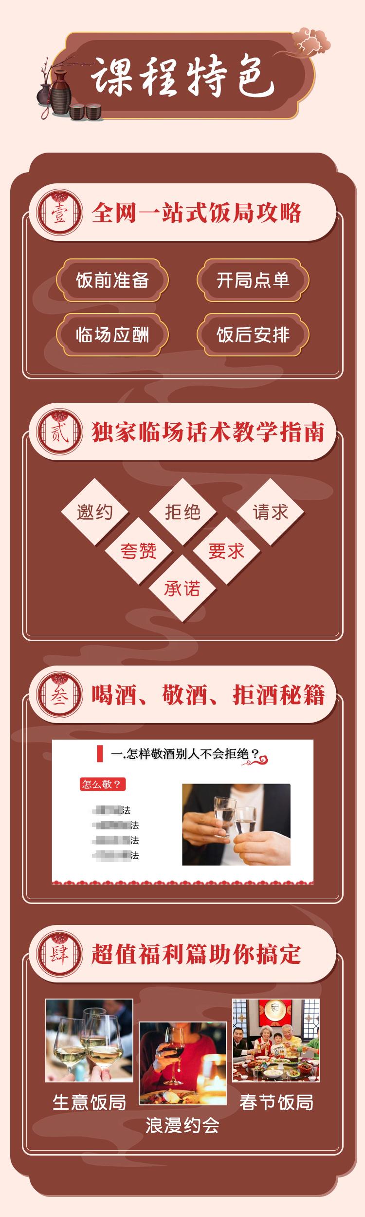 饭局社交全攻略:21节课快速精通中国式饭局潜规则